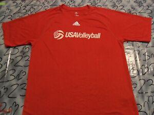 Small Usa Volleyball Adidas 100% Poly Shirt