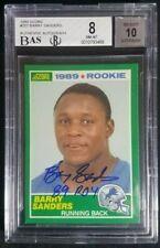 1989 Score #257 Barry Sanders Signed Rookie Autograph W/ROY RC Auto BAS BGS 8/10