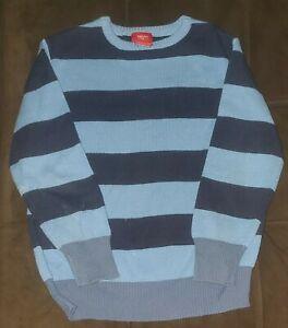Boy's Mossimo Striped Sweater size 8 blue vguc crew neck