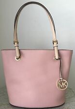 NWT MICHAEL KORS JET SET tote pink Saffiano leather purse bag satchel $248