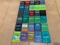 Playstation 1 PS1 lot of 30 UN OFFICIAL Memory Card U002
