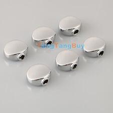 Set 6 Pcs Guitar Chrome Metal Machine Head Oval Tuner Buttons For BT-17CR