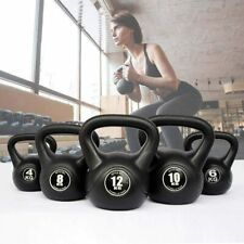 KETTLEBELL WEIGHTS GYM DUMBBELL BARBELL SINGLE ONE IRON BLACK 4-10kg for Strengt