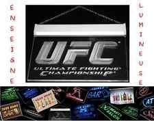 RARE PANNEAU PUB UFC FIGHT MMA LED 3D ENSEIGNE SALLE SPORT LUMINEUSE NEON LAMPE
