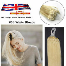 14''-26'' Double Drawn Micro Loop Ring  Beads Remy Human Hair Extensions UK
