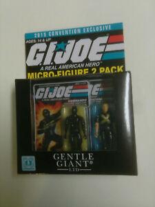 GI Joe Gentle Giant 2015 Convention Micro-Figure 2 Pack Rock 'N Roll Snake Eyes