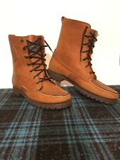 Ralph Lauren Ranger Boots 9 1/2B  Brown Leather Moccasin Toe