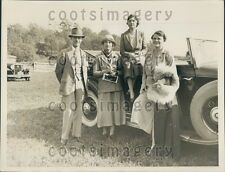 1934 Well Dressed 1930s Monmouth County Socialites at Hunt NJ Press Photo