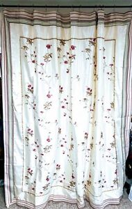 Croscill Rose Garden & Eggshell Shower Curtain with Liner & Hooks