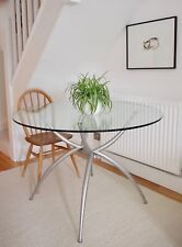 Stunning Designer Italian Calligaris Glass Round Dining Table Minimal CAN DELIV.