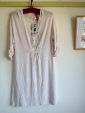 ZARA Fine Knit Tunic Dress. L UK 10 12 14. Natural Ecru Cream. Jersey BNWT