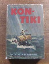 "KON-TIKI by Thor Heyerdahl -1st/1st HCDJ  ""A"" 1950 - documentary academy award"