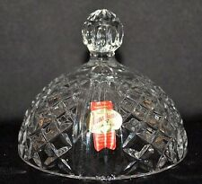 Anna Hutte BLEIKRISTALL 24% LEAD Crystal Dome Lid Great Condition With Sticker