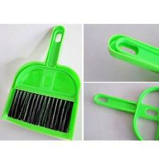 1X Mini Whisk Brush Dustpan Dust Pan PC Keyboard Desk Table Clean Cleaning Set