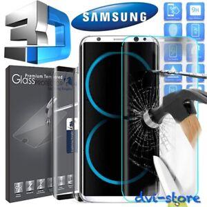 Pellicola Vetro Temperato Curvo 3D per Samsung Galaxy S8 S9 PLUS Proteggischermo