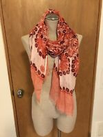 NWOT Tory Burch Large Linen Scarf, Moroccan Print