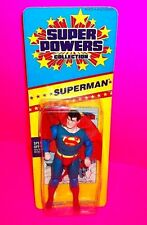 "Vtg SUPER POWERS ""SUPERMAN"" Action Figure DC COMICS 1986 Slim Small Card 8-Back"