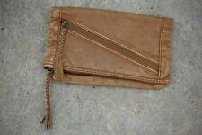 Converse One Star Brown Tan Vegan Leather Clutch Purse Wallet Foldover Organizer
