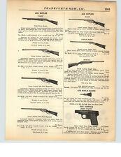 1928 PAPER AD Daisy Air Rifle BB Gun Take Down Haenel .22 Break Action