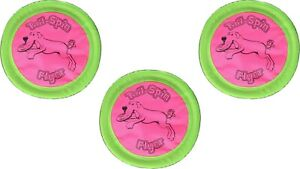 Booda Tail-Spin Flyer Dog Toys, 7-Inch  (3 Pack)