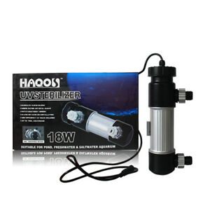 UV-H18 HAQOS Aquarium & Pond UV Sterilizer Clarifier Aqua Filter+ Lamp (18 Watt)