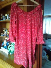 Kookai Lovely Red Long Sleeve Summer Dress. Size EUR 42 In Very Good Condition