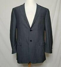 Canali Mens EUR 54L / US 44L Suit Jacket Sport Coat Blazer Gray Pinstripes