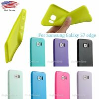 Samsung Galaxy S7 Edge Silicone Soft Slim Jelly Rubber Protector Gel Case Cover