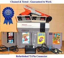 Nes Console Bundle + Super Mario Bros 1 2 3 & Donkey Kong -Best Pins -Guaranteed