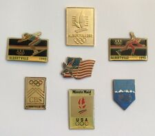 Lot 7 Pin's US Olympics Albertville 92 Press USA Today CBS Flag Team Minute Maid