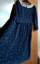 Laura Ashley Vintage Fine Needlecord Long Sleeved Dress Size 14