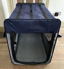 Dog Crate Foldable Portable Fabric Kennel With Fleece Mat Pockets