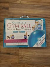 Complete Gym Ball Weight Loss Workout Book DVD Exercise Set Lucy Knight NEW