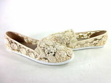 143 GIRL PANNA CROCHET FASHION FLATS NUDE SYNTHETIC IMPORTED US SIZE 8.5 MEDIUM