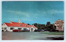 ERIE, PA Pennsylvania ~ HOWARD JOHNSON'S Restaurant c1950s Cars Postcard