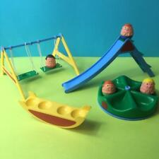 Vintage Airfix Weebles Toy Figures Playground Swings Slide Roundabout Set 1970s