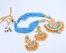 Necklace Earring Traditional Jewelry Set Indian Bollywood Style Kundan Pendent