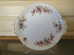 "Royal Albert ""Lavender Rose"" Cake Plate England 1960s"