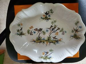 Antique Rouen Deep platter Faience