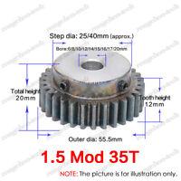 1.5Mod 38T Spur Pinion Gear #45 Steel Motor Gear Tooth Diameter 60MM Bore 10MM