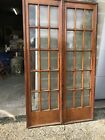 Bova 35 Pair Antique Cherry Birch GlassPocket Doors 48.75 x 83.5 x 2.75