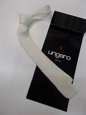 CRAVATTA  IN  MAGLIA FIRMATA UNGARO moda cravatte  skinnyTIE uomo trend