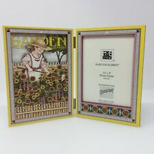 "Mary Engelbreit Ink Hinged Photo Frame 3.5"" X 5"" Who Loves A Garden Vintage 1992"