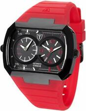 DETOMASO OVADA Dual Time Black / Red - DT2022-c - BNIB - Free Delivery