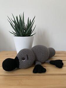 Platypus Crocheted Amigurumi Stuffed Animal Toy - Handmade