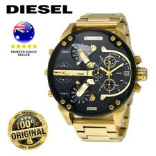 DIESEL DZ7333 MR DADDY 2.0 Gold Multiple Time Zone Chronograph mens wrist Watch