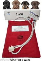 GIANT Pet HEAT PAD, Cat, Dog, Puppy, Bed, Electric Mat, Extra Large XL 82x62cm
