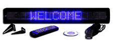 New! One Line Semi-Outdoor ULTRA BRIGHT BLUE LED Programmable Scrolling Sign 26""