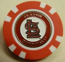 MLB St. Louis Cardinals Magnetic Poker Chip removable Golf Ball Marker