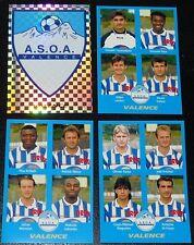 PANINI FOOT 96 A.S.O.A. VALENCE COMPLET FOOTBALL SAISON 1995-1996